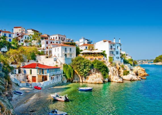The charming Skiathos Town